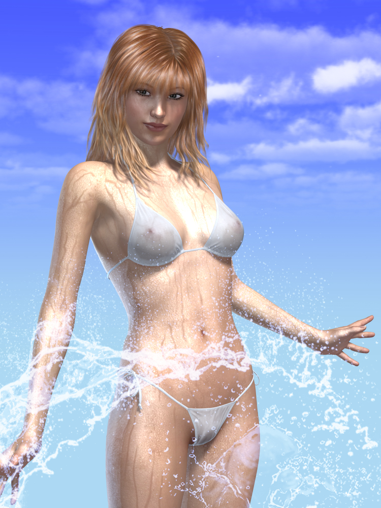 Wet BodyとWater Brushの適用例