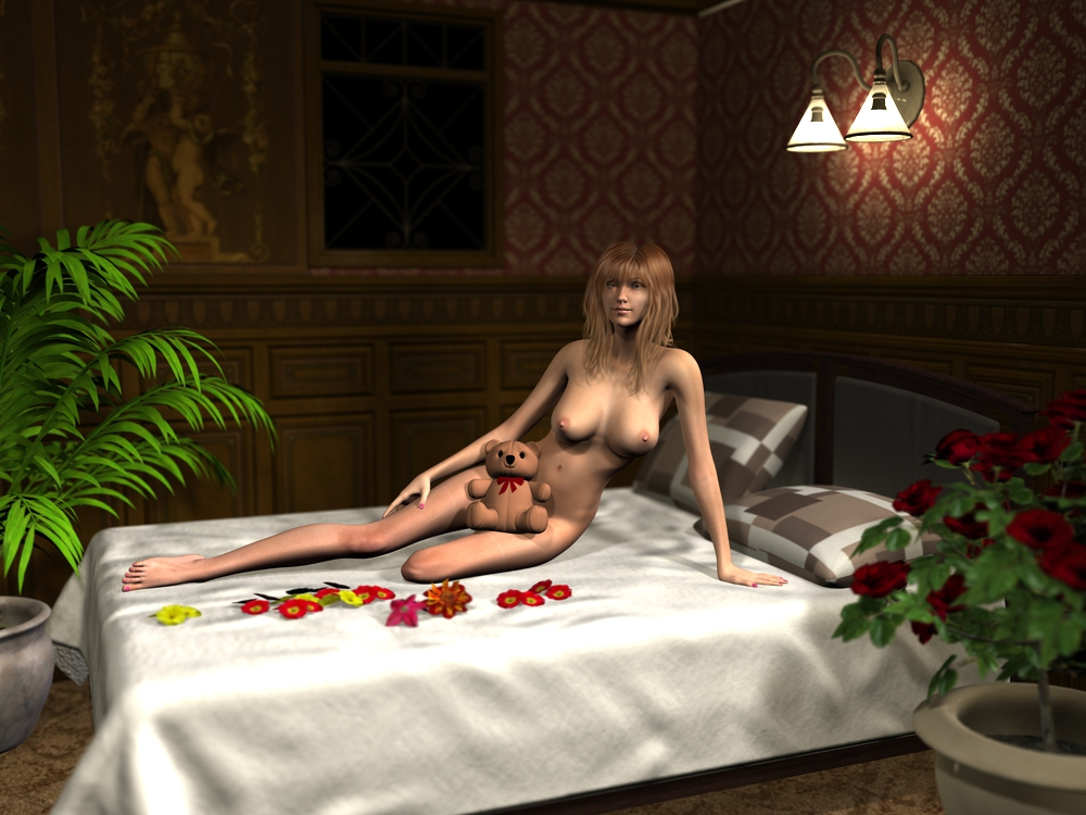 nude-bed2(花と緑を追加)