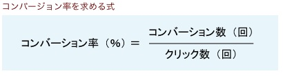 コンバージョン率を求める式