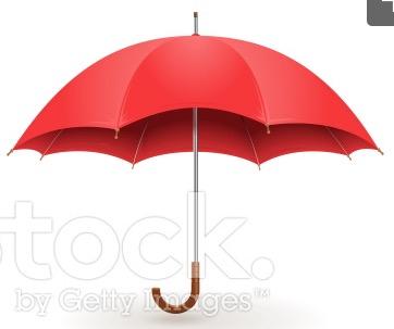 似た傘(ストックフォトサイトのiStock.より)
