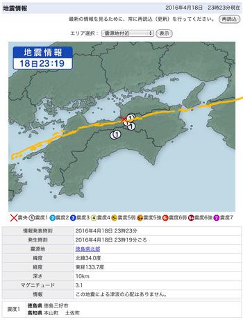 熊本地震→四国の中央構造線断層帯に飛び火?