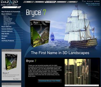Bryce 7(3DCG景観ソフト)が無料に