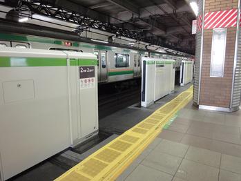 恵比寿駅のホーム・工事中(2)