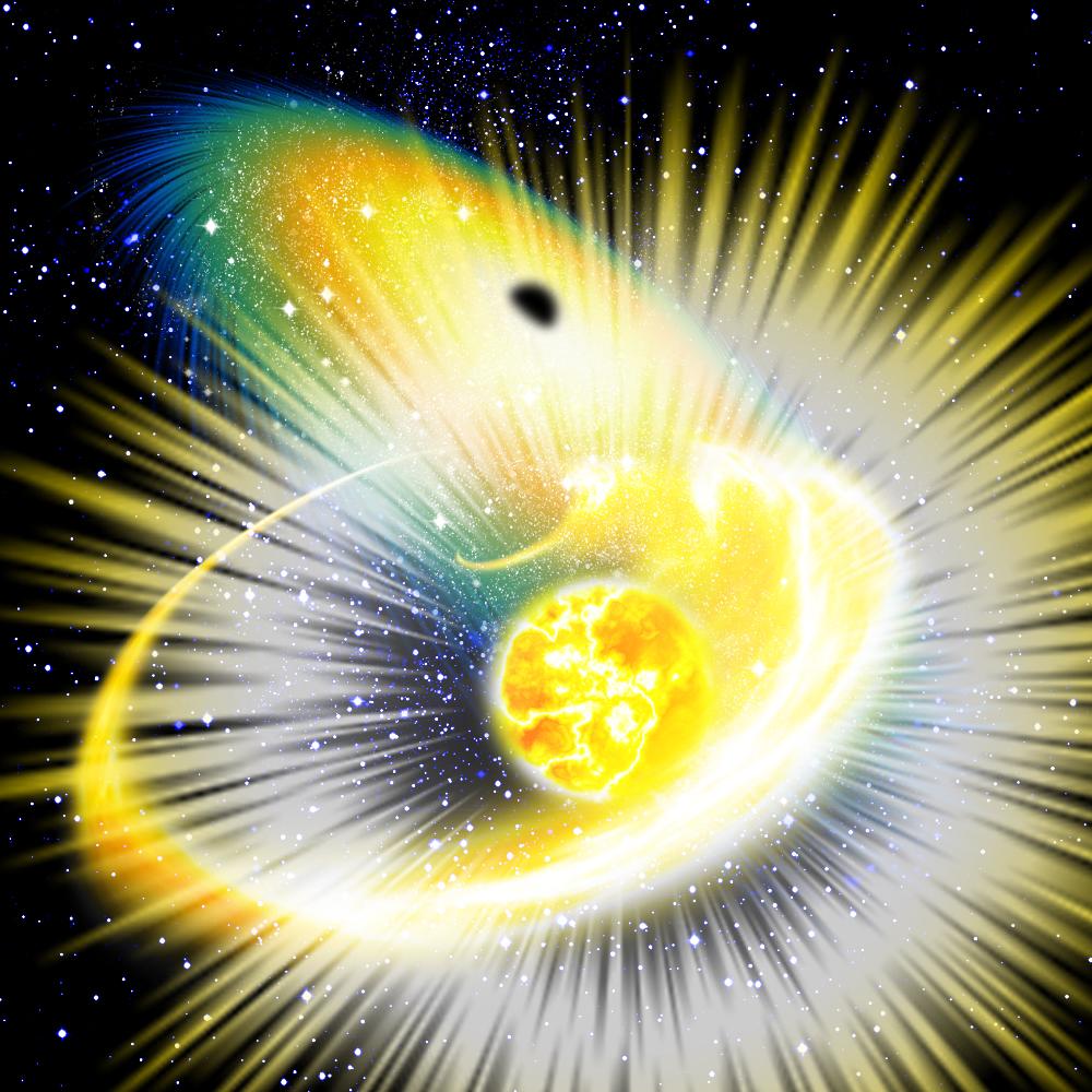 ブラックホールが誘引した超新星爆発