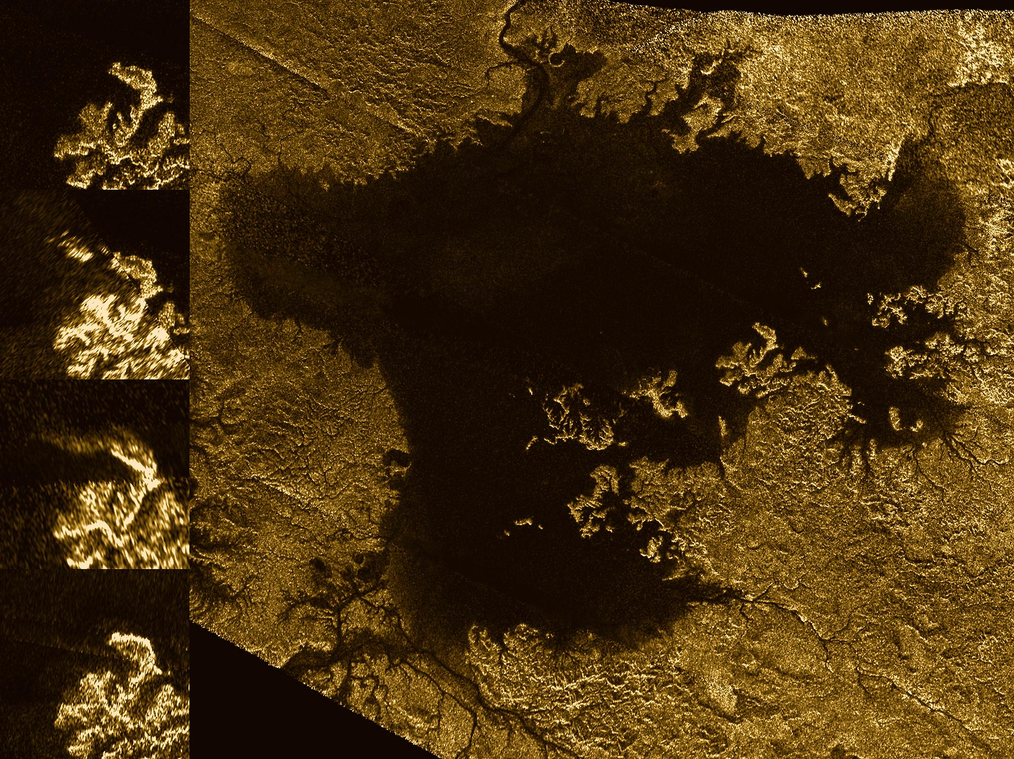 Mystery Feature Evolves in Titan's Ligeia Mare