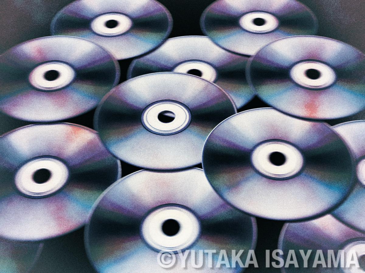 劣化CD-Rのイメージ