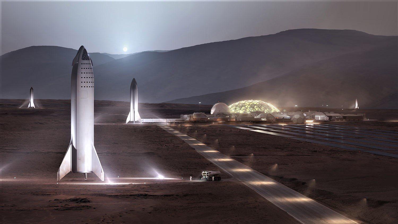 「スペースXの火星基地は2028年建設が目標」らしい