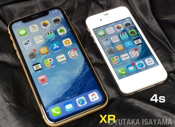 iPhone-XRと4s(表)