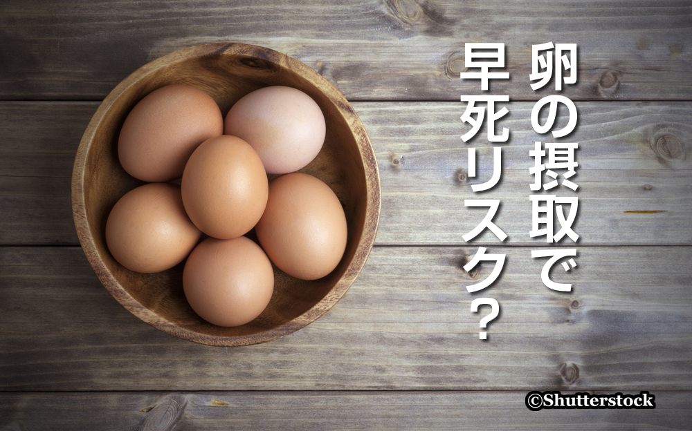 今度は卵の摂取で早死リスク?