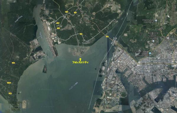フォレストシティ(衛星写真)