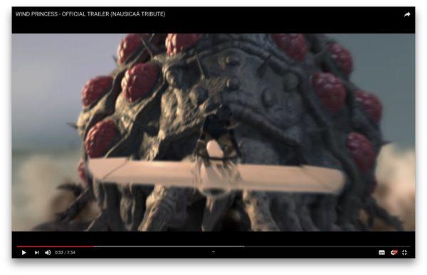 王蟲の前を飛ぶメーベ