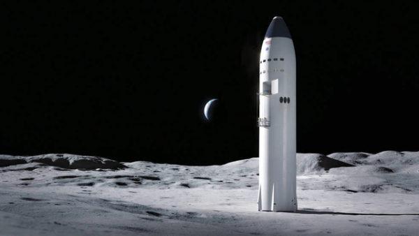 スペースXの月面着陸機のイメージ図