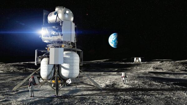 ブルーオリジンの月面着陸機のイメージ図