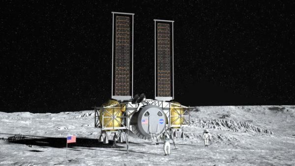 ダインティックスの月面着陸機のイメージ図